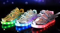 angels court - 2016 Children led light Shoes For Kids USB Charging Sole Luminous Sneakers kids Led Shoes Girls Boys Light Shoes With angel Wings