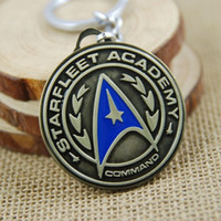Wholesale Top Grade Star Trek Shield Keyring Keychain for Keys Movie Series Key Chain Best Promotion Key Ring Key Holder W994