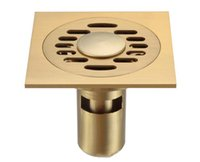bathroom drainer - Modern Floor Drainer Brass brass Bathroom Shower Drain Washer Waste For Sale mm