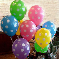 Wholesale 3 g mix colors Polka Dot Balloons wedding marry marriage room decoration essential inch round ballon balao