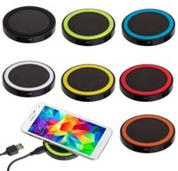 Wholesale Newest S6 Qi Wireless Charger Cell phone Mini Charge Pad For Qi abled device Samsung Nokia HTC LG Cellphone Solar charger