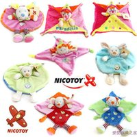 ask super - NICOTOY baby doll super soft baby toys with rattles puzzle doll toy dimensional ask appease towel