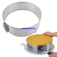 baking bread supplies - New stainless steel adjustable Cake Bread Cutter Slicer Layer Slicer Cutting Fixator Baking Kitchen Supplies