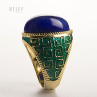 azurite ring - Natural grape azurite Jin Shinan onyx ring enamel female models fashion atmosphere