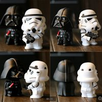 Wholesale Star Wars Anime Dolls cm Height White Horse Black Knight Hand Model Decoration Toy Action Figures Children Birthday Gift