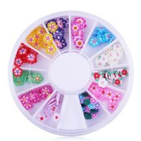 best polymer clay - hot wheel set fashion best selling mixed colors d polymer clay fimo flower slice nail art acrylic jewelry decoration diy