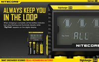 rechargeable battery li-ion - Authentic Nitecore D4 slot rechargeable Lithium LCD Display Battery Charger Digital charger For Li ion Ni MH Batteries