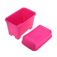 stools - Rose Color Durable Creative Large Capacity Plastic Storage Box Bins Stool Organizers Plastic Containers H15328