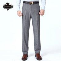 big men dress pants - High Quality Trousers Classic Men s Suit Pants Summer Grey Dress Pants Silk Comfortable Men Business Pants Big Size