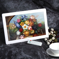 Wholesale 12 quot HD TFT LCD Full view Digital Photo Picture Frame Alarm Clock MP3 MP4 Movie Player Remote Control Black White