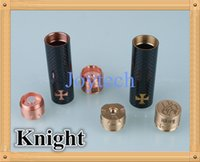 Wholesale 1 Clone Knight mods full mechanical knight mod carbon fiber cover ecig battery tube brass or copper tube fit thread rba atomizer