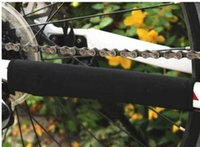 bicycle chain protector - ALL BLACK NO LOGO Bicycle Chain Protector Bike Stay chain Protection Cycling Chain Care Cloth Chain Protector cover