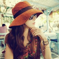 Wholesale 2015 new fashion UV large brimmed sun hat female summer influx wild hat a009