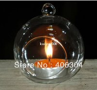 Wholesale cm transparent hanging glass bubble candle holder vase christmas clear ball wedding party decoration