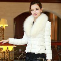 Wholesale 4040 new fashion winter short down jacket women paragraph Slim feather padded cotton fur collar jacket coat