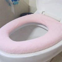 toilet seat - O Shaped Washable Soft WC Toilet Seats Cover Flocking Toilet Cover Pads for Bathroom Comfortable and warm JJ0097