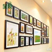Wholesale Wyatt whole wood wood frame wall photo wall creative combination living room wall SM12613 atmospheric photo