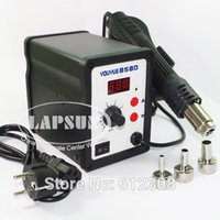 Cheap 220V 240V AC 700W YOUYUE 858D Desoldering welding Tool Hot Air Soldering Station Gun Temperature Adjustable With Nozzles
