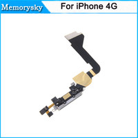 Wholesale High Quality Charger Charging Dock Port Connector Flex Data Cable Replacement for iPhone G with Black White color DHL ship C