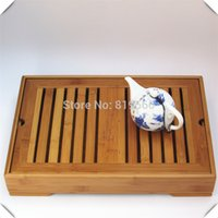 Cheap New Chinese Bamboo Kung Fu Tea Set Tray Cup drawer Pot Board Tools Service Table