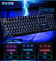 Wholesale Jumper Gaming Keyboard Backlit Backlight Mechanical Keyboard Wired USB with Keys for PC Laptop Top Quality DHL
