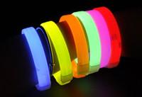 Wholesale New Multicolor Luminescent Bracelet fluorescent bracelet for Concert Night run fluorescent luminous cheer Bracelet