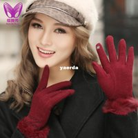 Wholesale Ms wool factory new autumn and winter knitted wool gloves touchscreen warm sub finger touch