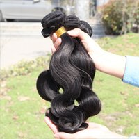 Wholesale Best Human Hair Top Quality Brazilian Peruvian Malaysian Indian Virgin Hair Body Wave A Natural Color No Shedding Dyeable