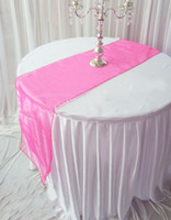 Wholesale Hot Sale quot x108 quot Organza Wedding Table Runners Party Supply Decorations Burlap Table Runners Kinds of Color
