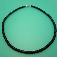 beach surfer - High Quality Men Natural Coconut Shell Necklaces Mens Beaded Surfer Beach Choker Necklace