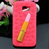 lipstick case - Lipstick Phone Case For iphone plus S S Samsung Galaxy S4 S5 S6 note3 note4 Luxury Soft Silicon Cases New Arrival