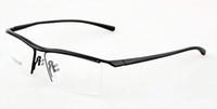 Wholesale 2016 Fashion Brand Prescription frame for men p8189 eyeglasses frame tr90 mirror myopia glasses Half rim metal optical frame