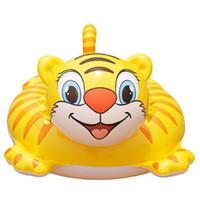 Wholesale Brand Tiger Shape PVC Children Swimming Ring Yellow amp White For Boy amp Girl