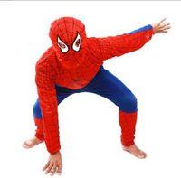 Wholesale 10 Halloween Children s clothing Kids Halloween mascot spiderman costumes children Spider Man costume party