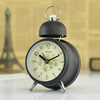 antique clocks french - Fashion vintage rustic bell alarm clock d Angleterre american french style mute clock