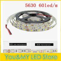 Wholesale 5M Super Bright m SMD led m LED Strip Light V Waterproof Non waterproof Flexiable LEDs Free Ship