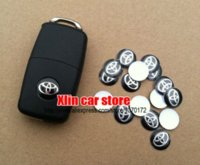 badge systems - 100pcs mm Toyota Car logo Auto Key Fob Emblem key Shell decal Badge Sticker sticker system