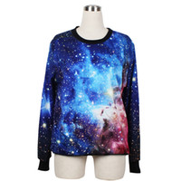 Wholesale 2016 New Casual Sweatshirts For Women Full Sleeve Pullover O Neck D Printed Universe Loose Cozy Spring Autumn Clothing Hot Sale