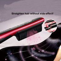 Wholesale New KD Hair Straightener Come With isplay Electric Straight Hair Comb Straightener Iron Brush
