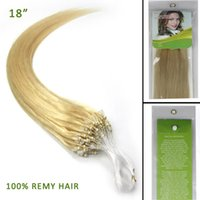 micro loop hair extensions - Cheap quot Loops Micro Rings Beads Tipped Remy Human Hair Extensions S g Light Blonde