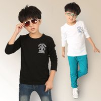 Cheap boys cross badge printing tees 2015 fashion cute lovely oys kids children T-shirt teenage fall clothing wholesale 4-12 years