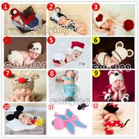 newborn props - Newborn Baby set Infant Handmade Animal Crochet Hat Costume Photo Photography Prop