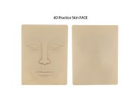 Wholesale 5pcs Realistic Tattoo Practice Skins D Rubber Face Tattoo Practice Skin Fits For Eyes Brows Practise Makeup