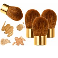 artist authentic - 2016 New Rushed Gold Pincel Maquiagem Authentic Chubby Pier Foundation Brush Loose Paint Brushes Powder And Make up Artist Dedicated Genuine