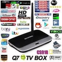 Wholesale Live Streaming Channel CS918 Q7 MK888 Quad Core Android TV Box Rockchip Cortex A9 Smart TV Box HD P Arabic IPTV Box