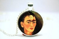 artist kahlo - 10pcs Frida Kahlo Necklace Feminists Artist Jewelry Art Pendant Glass Photo Cabochon Necklace
