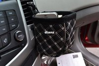 Wholesale Mobile phone holder black car leather upholstery car outlet sundries bag cell phone pocket glove
