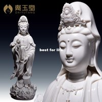 Wholesale Dehua porcelain decorated living room at home crossing Guanyin Buddha Creative Decoration Gifts Crafts D05