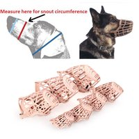Wholesale Pet Dog Muzzle PE Plastic Basket Adjustable Mesh Mask Mouth Cage Large Small H9838