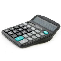 Wholesale Electronic Calculator Deli Solar Battery in Digits Calcultor Full Function Big Key Office Home Commercial order lt no tracking